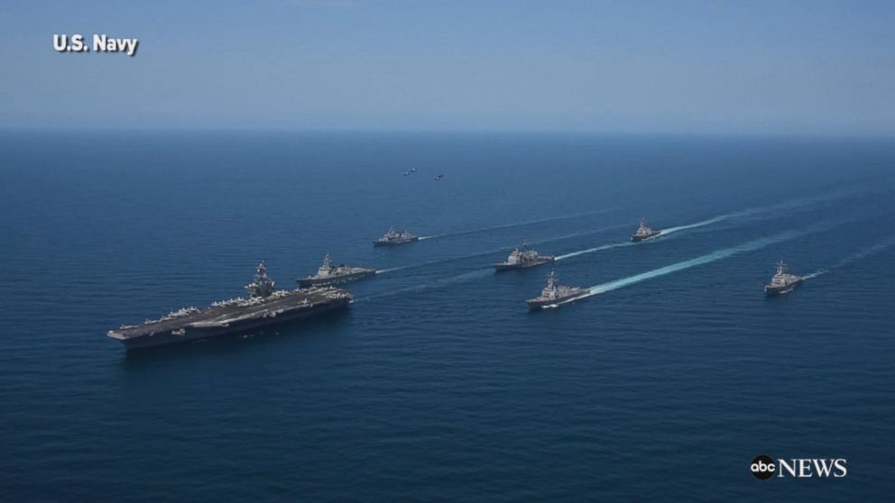 U S  Navy ships operate in the Sea of Japan