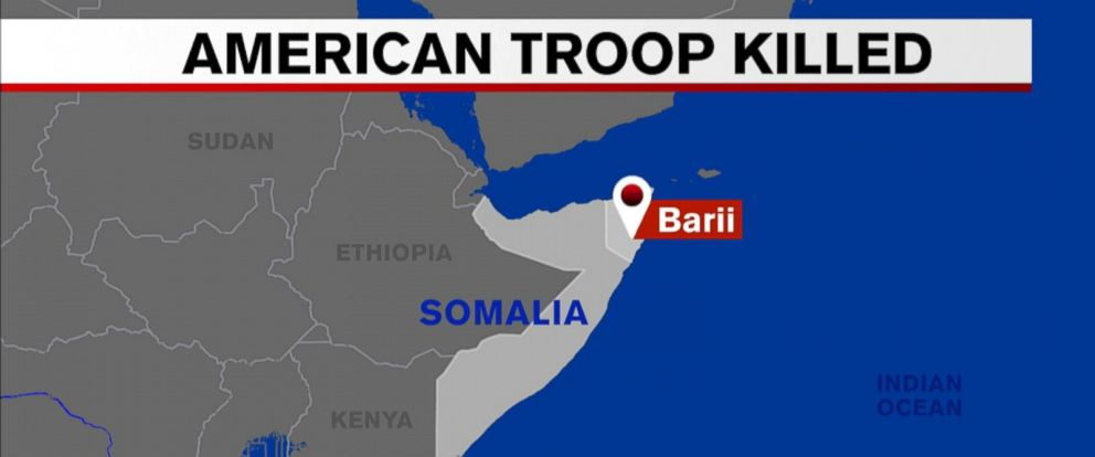 The US service member was killed during an operation against al-Shabaab.