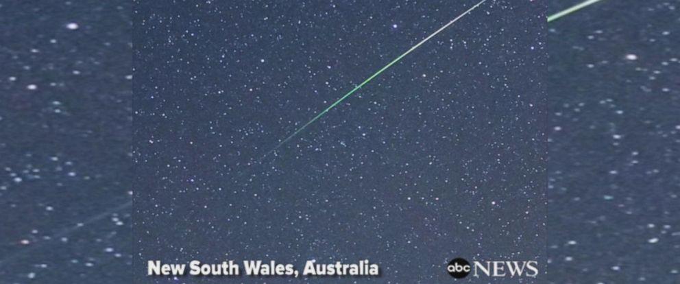 VIDEO: Green meteor shower thrills stargazers in Australia