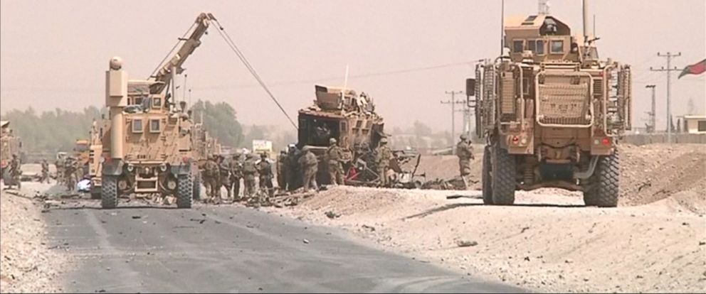 VIDEO: Two U.S. service members died after their convoy came under attack in Afghanistan.