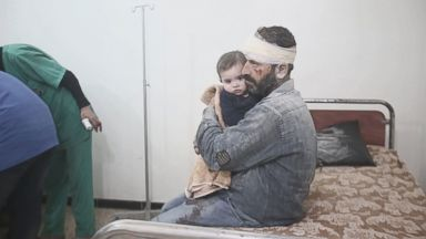 'Syrian President Bashar al-Assad, with support from Russia and Iran-backed militants, is carrying out military campaigns against the last major rebel-held territories in Syria.' from the web at 'https://s.abcnews.com/images/International/180207_vod_orig_ghouta_16x9_384.jpg'