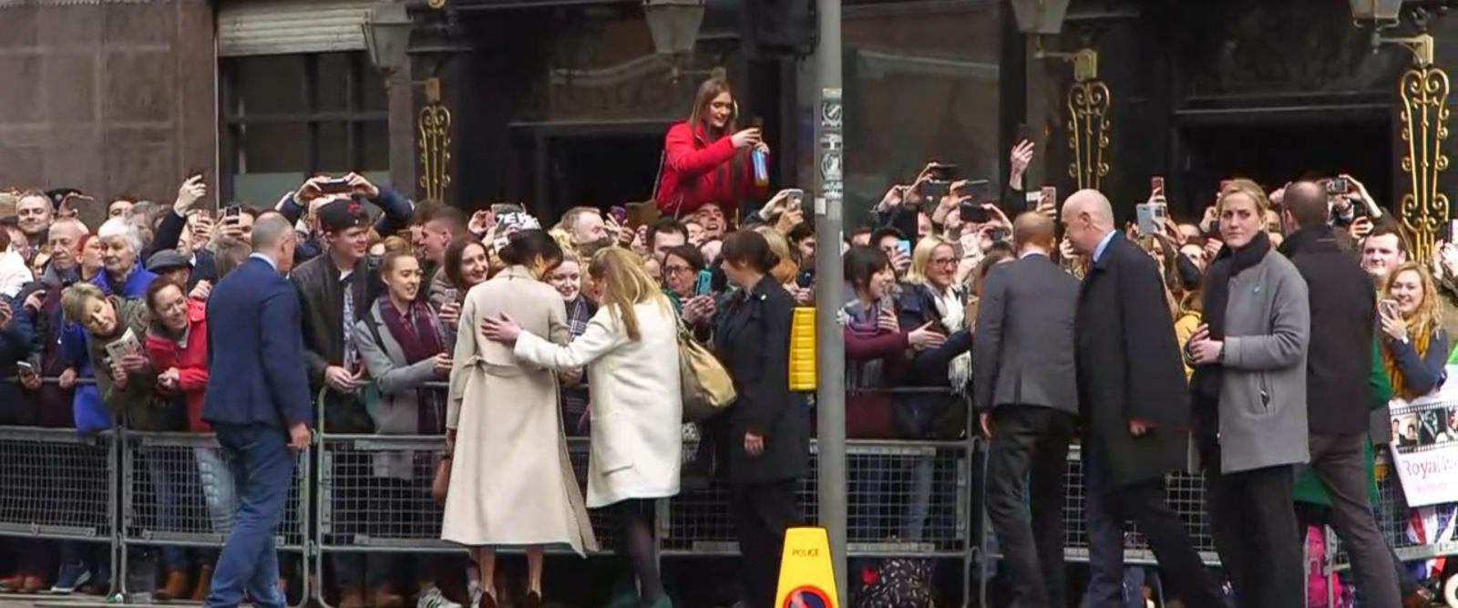 VIDEO: Prince Harry and Meghan Markle make a surprise visit to Belfast