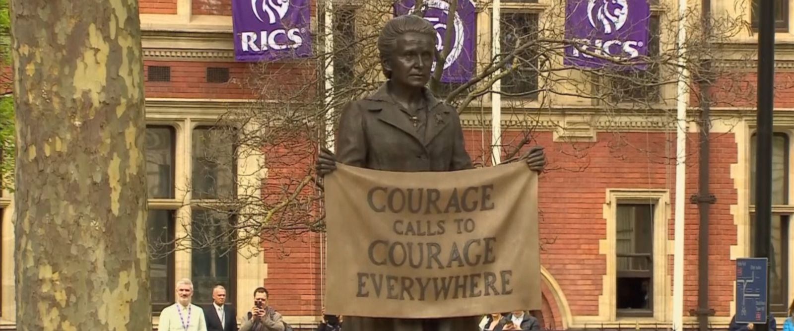 VIDEO: Millicent Fawcett, a leading suffragist who played a key role in securing women older than 30 the right to vote in 1918, was commemorated outside the British Parliament.