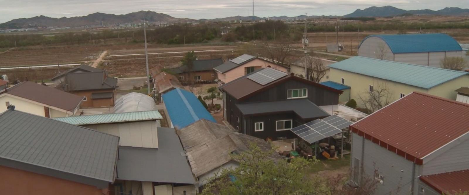Tae Sung Dong, or Taesung Freedom Village, located in the Korean demilitarized zone, is home to 193 people.