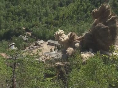 WATCH:  Video purports to show demolition of North Korean nuclear site