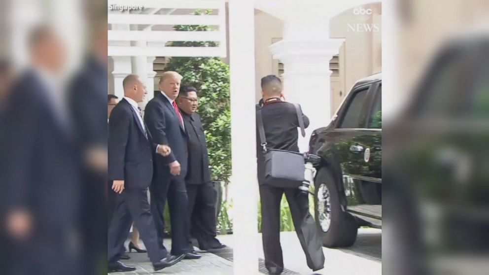 Trump Shows Off The Beast Limo To Kim Video Ab