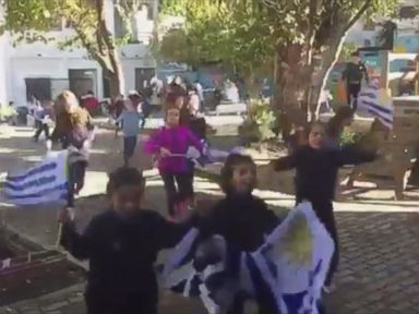 WATCH: Children watching the World Cup celebrate after goal