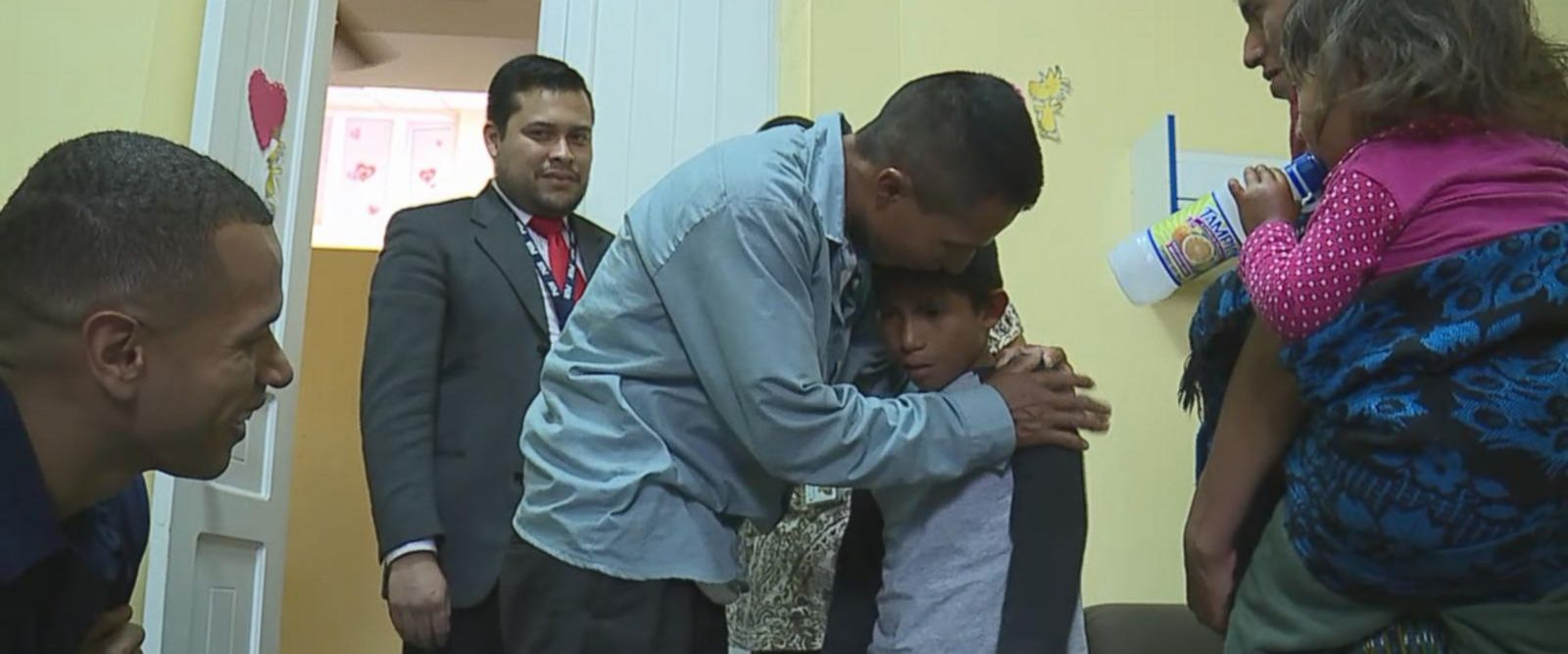 The boy had been living in foster care after being separated from his father at the U.S. border.