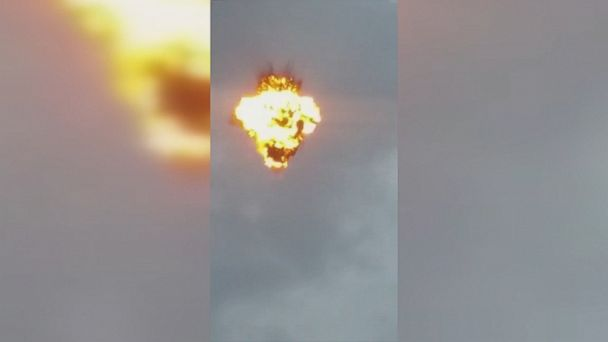 Video appears to show drone exploding in Venezuela