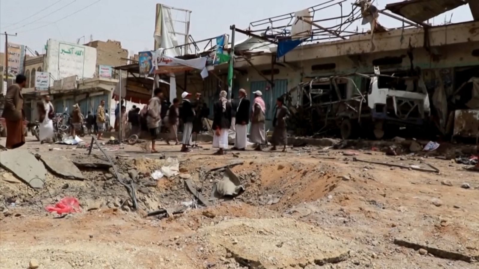 Saudi led coalition airstrike kills dozens of children on bus in yemen abc news