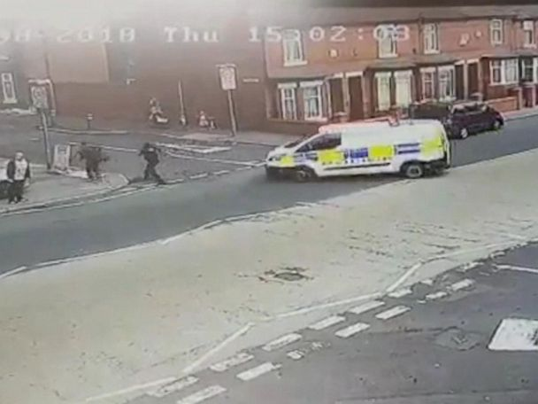 WATCH:  Footage shows moment police officer is hit by colleague's van
