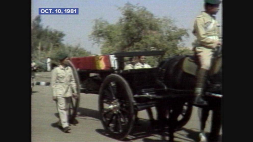 Anwar Sadats funeral service held in Cairo.