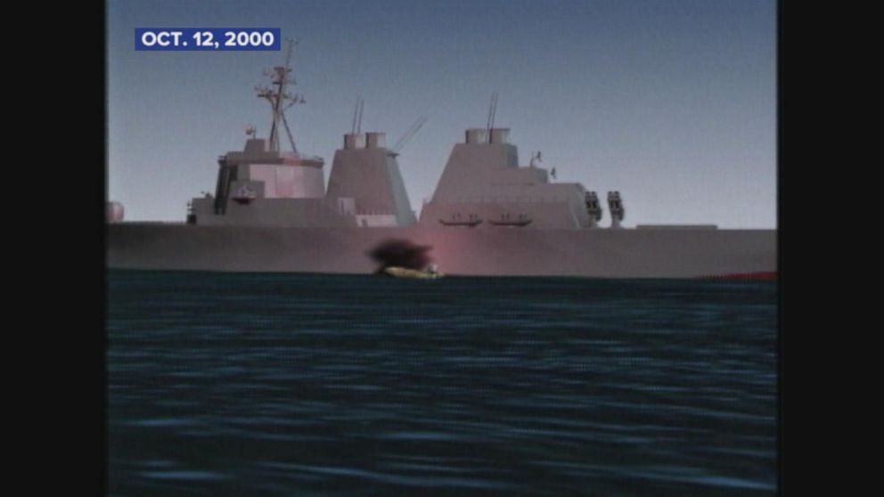 Suicide bombers damage USS Cole in Yemen.