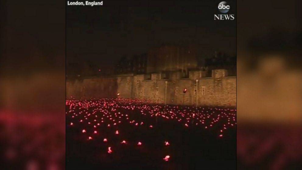 VIDEO Thousands of torches were lit at the Tower of London to mark the centenary of the end of World War I