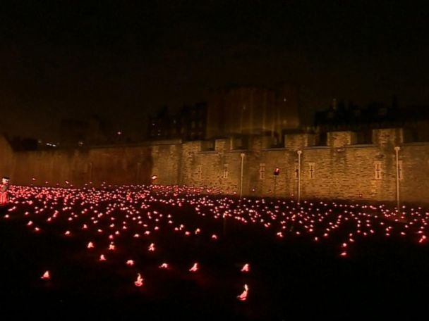 WATCH:  Haunting, beautiful installation at the Tower of London marks end of WWI