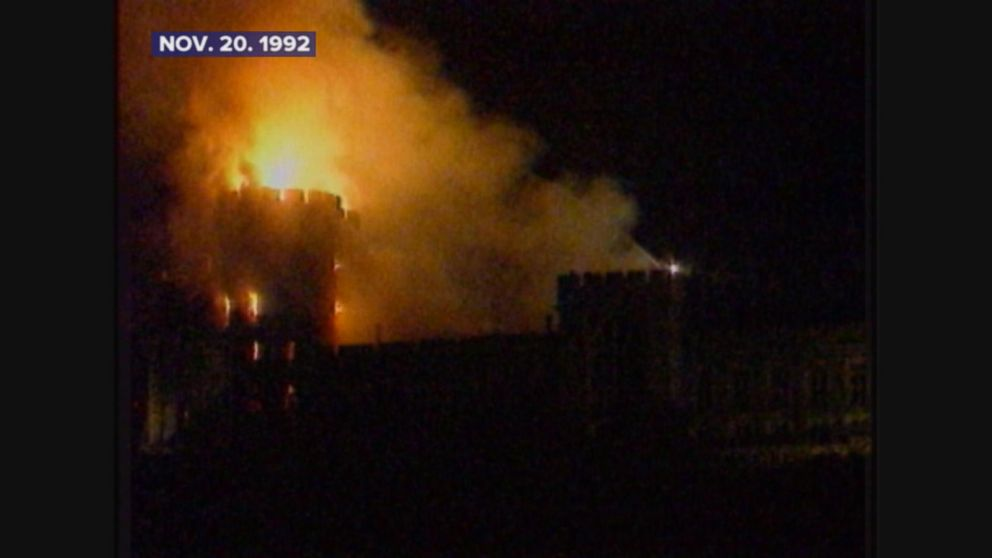 Fire breaks out at Windsor Castle.