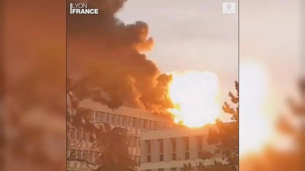 Strong explosion, fire hits French university building