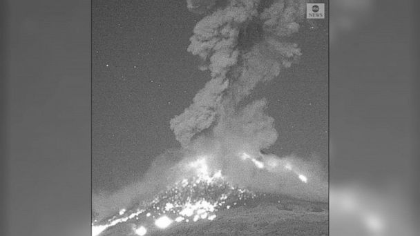 Mexican volcano explodes in nighttime eruption