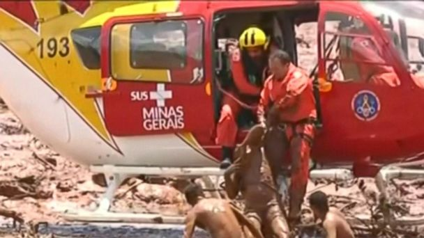 200 feared missing after dam collapse in Brazil