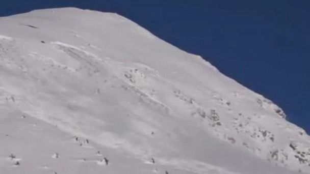 Controlled avalanche triggered at ski resort in Italian Alps