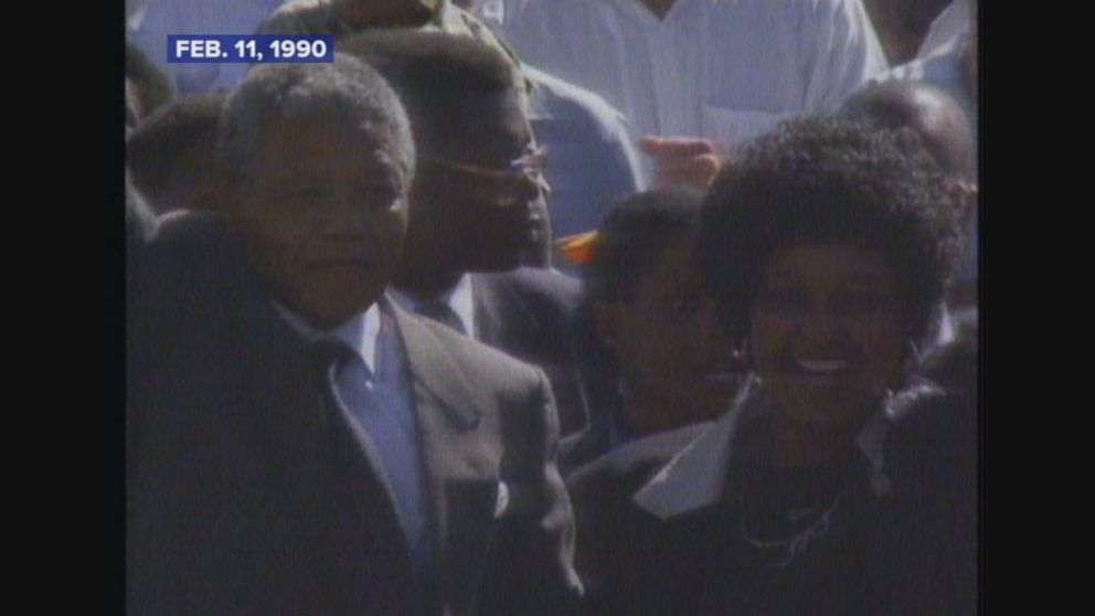 Nelson Mandela is released after 27 years in prison.