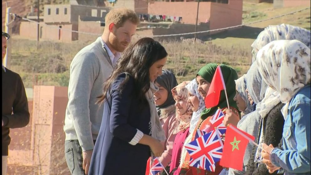 Prince Harry and Meghan begin 3-day trip to Morocco with stop at