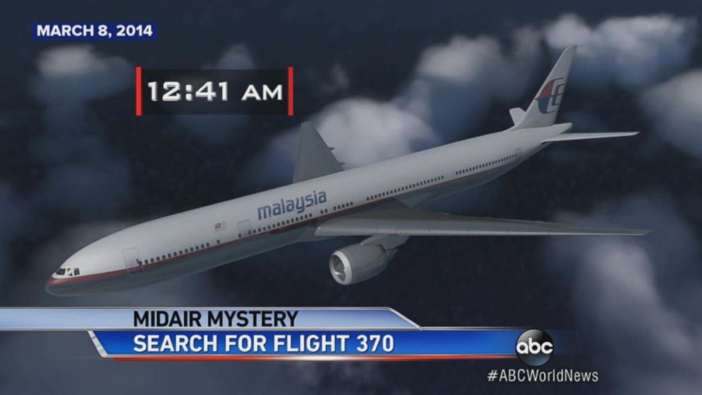 Malaysia Airlines Flight 370 disappears while flying from Kuala Lumpur to Beijing.