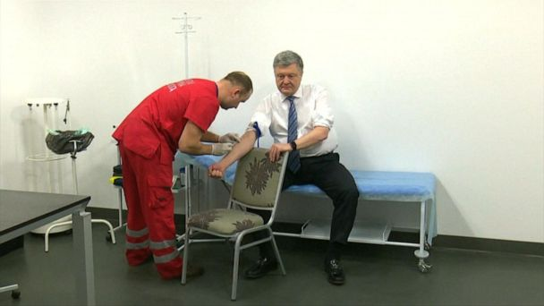 Ukraine's presidential candidates take televised drug test