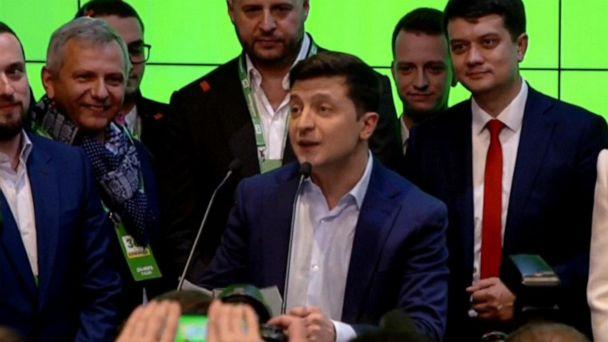 Comedian in Ukraine wins election