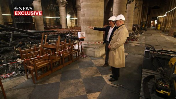ABC News gets exclusive first look inside fire-ravaged Notre Dame Cathedral