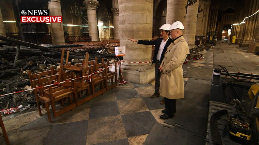 Notre Dame: ABC News gets exclusive first look inside the fire-ravaged cathedral