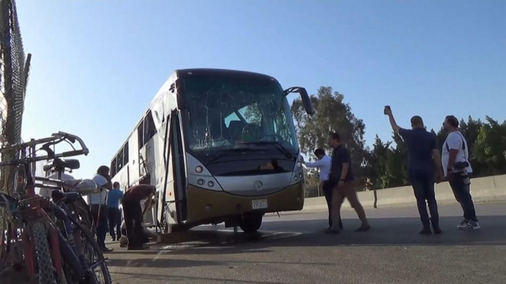 Tourist bus bombed near Egypt's famed pyramids, injuries reported