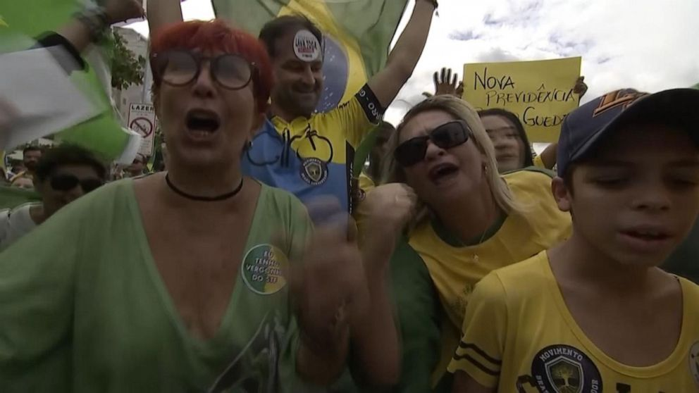 Supporters of Brazilian president hit the streets