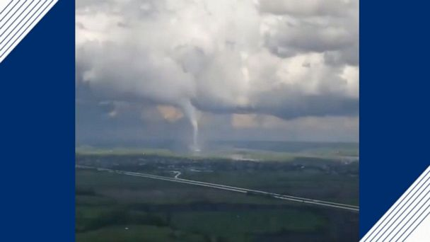 Pilot spots tornado while flying