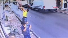 VIDEO: Heroic teen catches toddler falling from building