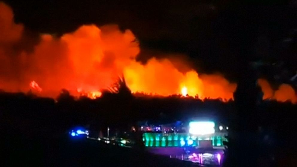 10,000 evacuated after massive fire disrupts Croatian music festival