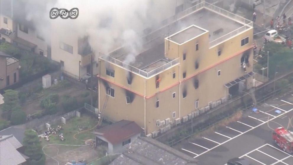 Massive fire at Kyoto animation studio kills at least 33, Japanese