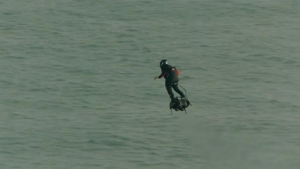French 'bird-man' Franky Zapata successfully crosses English Channel on flyboard