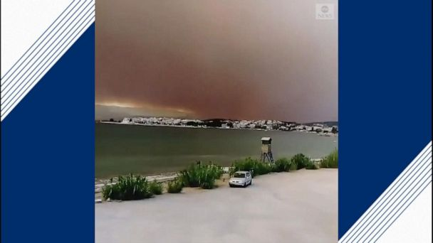 Greek wildfire rages on for 2nd consecutive day