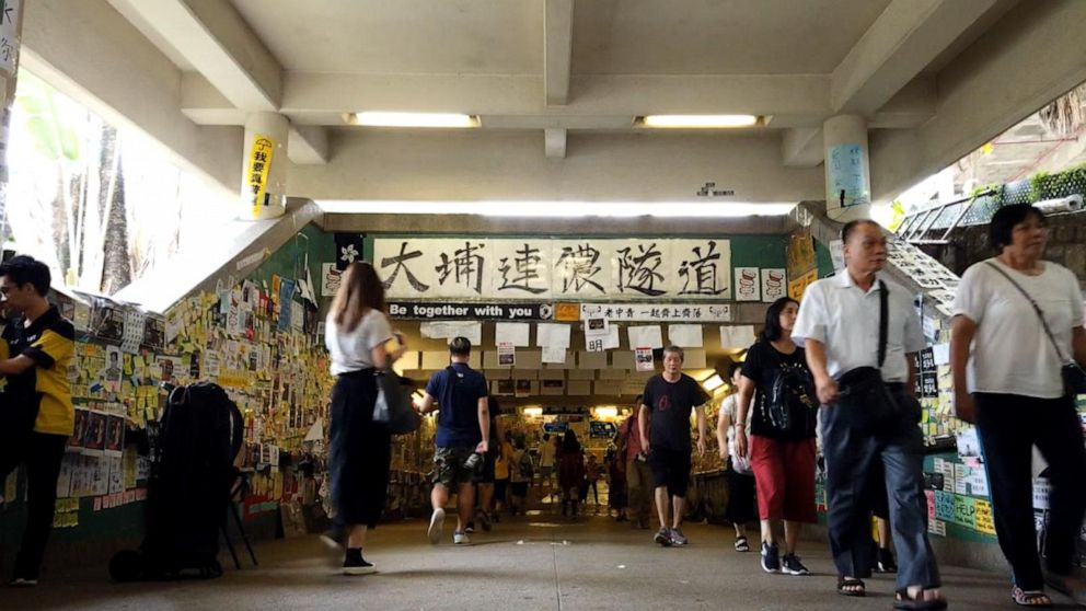 'Lennon Tunnel' in Hong Kong becoming a shrine to pro-democracy movement