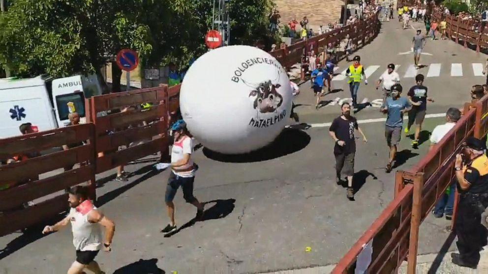 'Running of the balls' festival kicks off in Spain