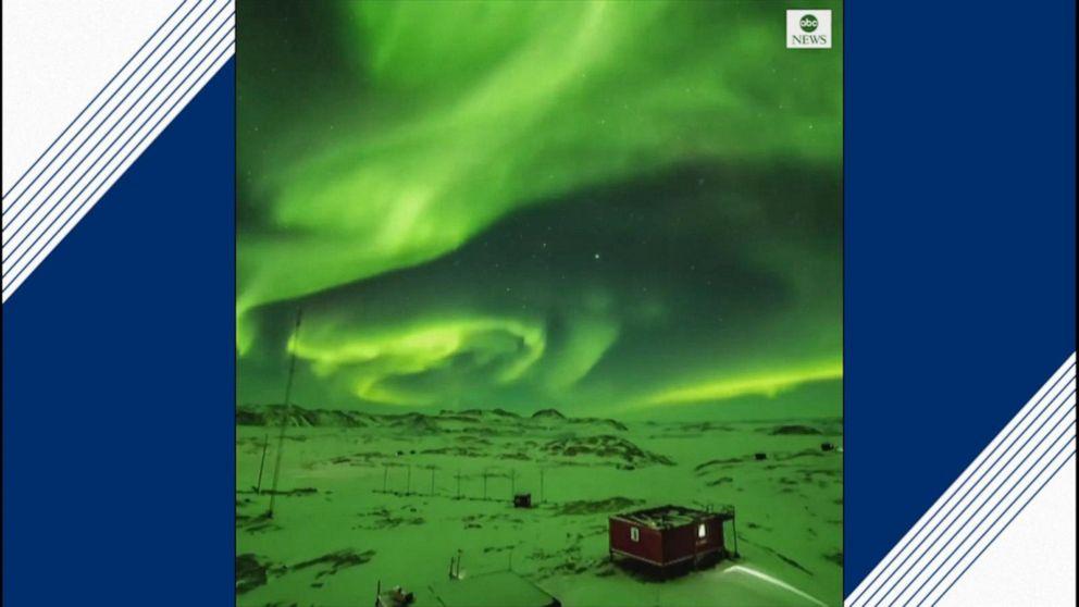 Northern lights dance above Antarctica Video - ABC News