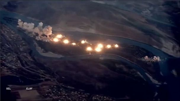 Video shows massive US-led airstrike against ISIS island in Iraq
