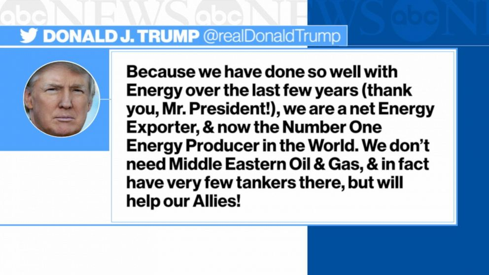 Trump fires back after Saudi oil attacks