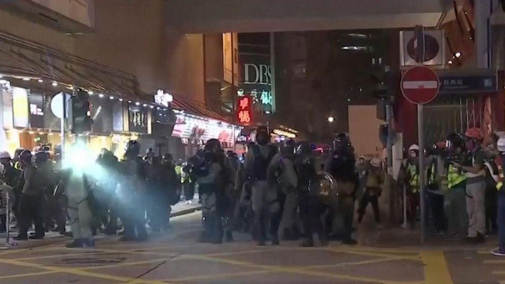 Tear Gas Engulfs Hong Kong As Protesters Trash China Agency