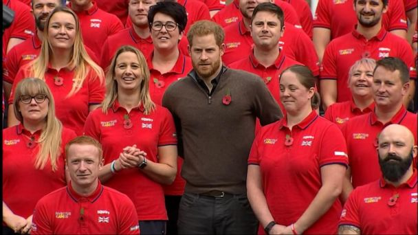 Prince Harry unveils UK team for Invictus Games