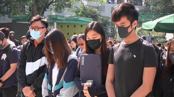 Hong Kong protesters blame police for death of university student