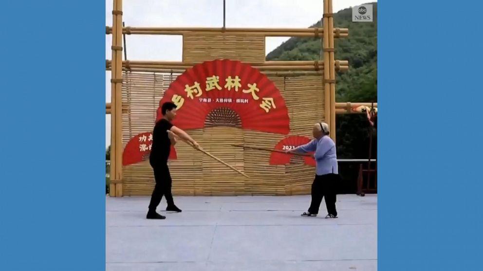 98-year-old 'kung fu grandma' wows spectators at martial arts event