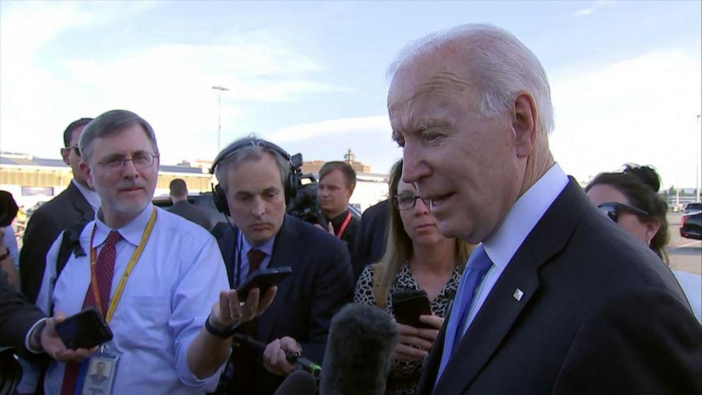 Biden takes questions before leaving Geneva
