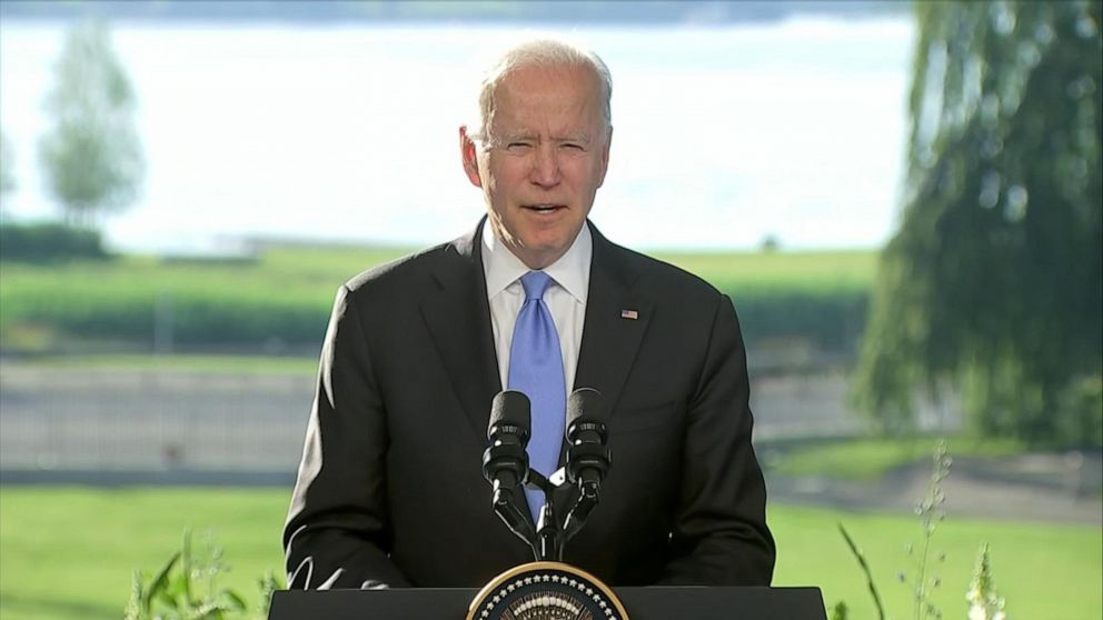 Biden holds press conference after meeting with Vladimir Putin Video - ABC  News
